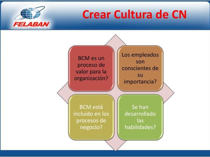 Crear Cultura de CN