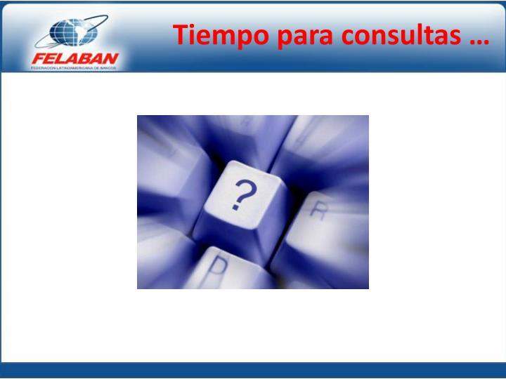 Tiempo para consultas …