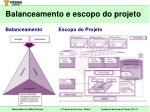 balanceamento e escopo do projeto