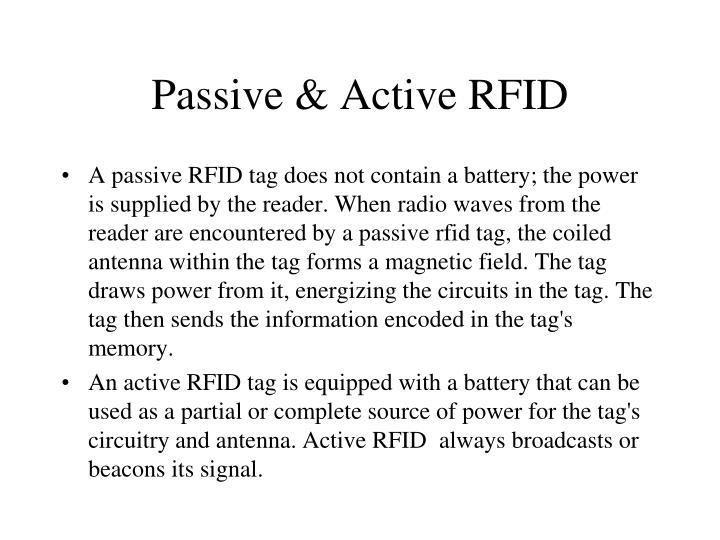 Passive & Active RFID
