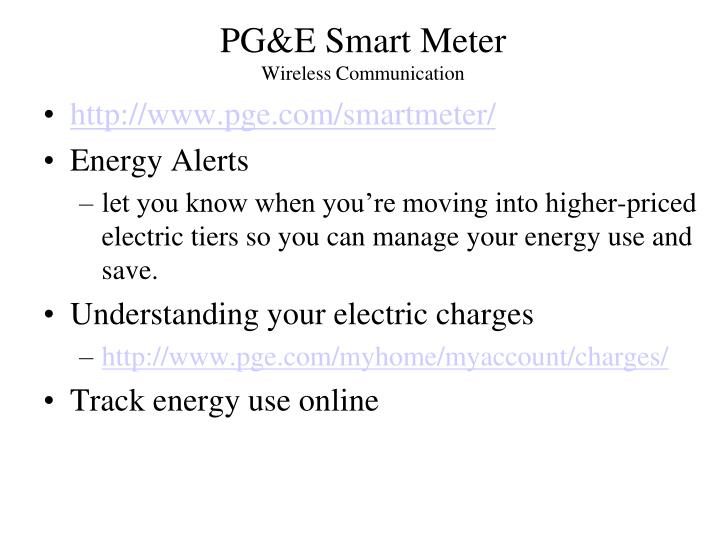PG&E Smart Meter