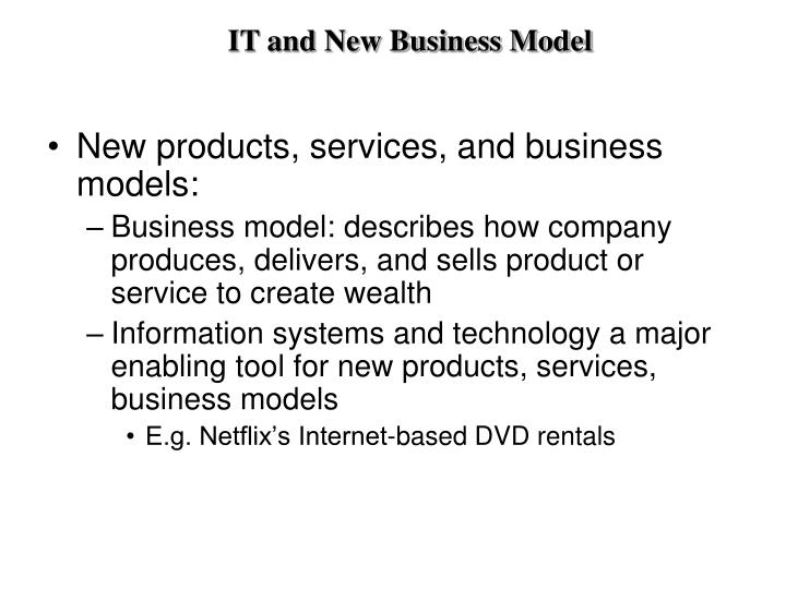 IT and New Business Model