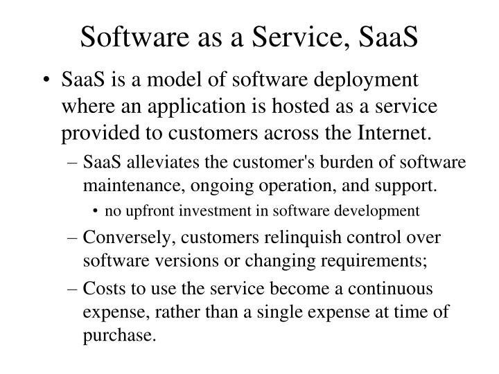 Software as a Service, SaaS