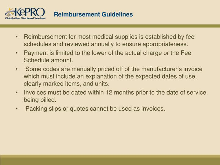 Reimbursement Guidelines