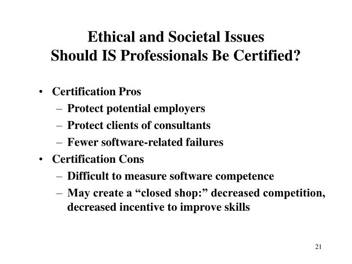 Ethical and Societal Issues