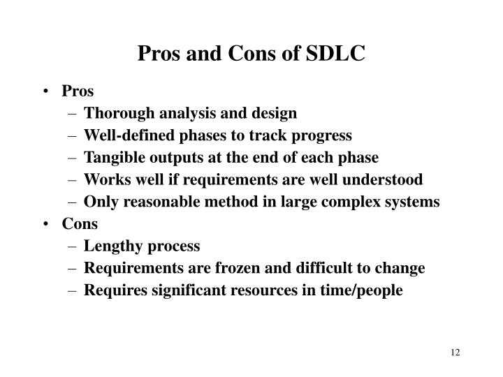 Pros and Cons of SDLC