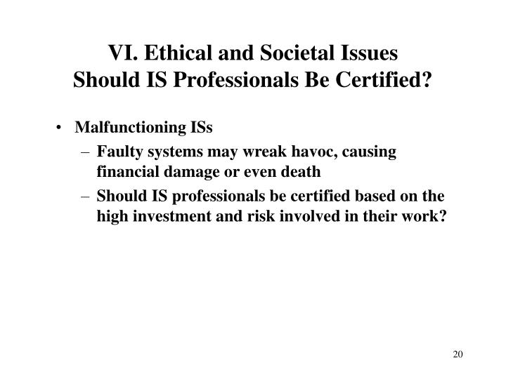 VI. Ethical and Societal Issues
