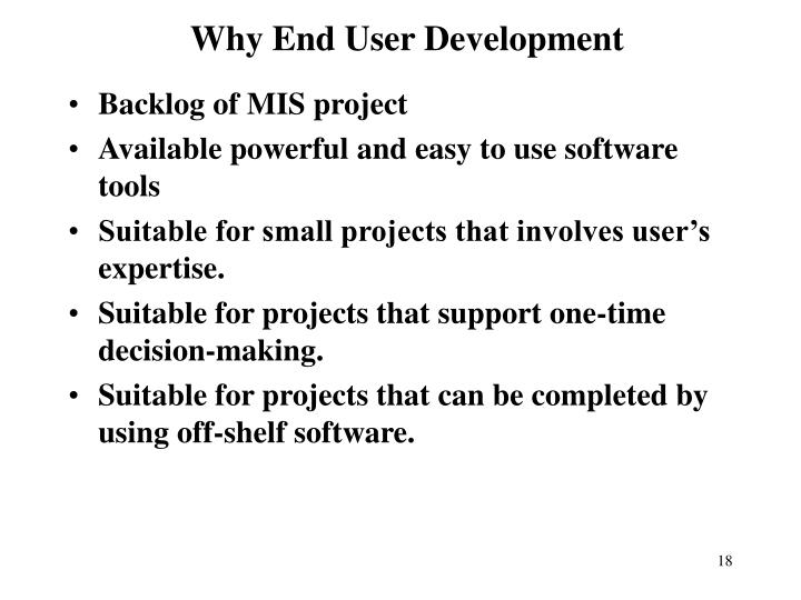 Why End User Development