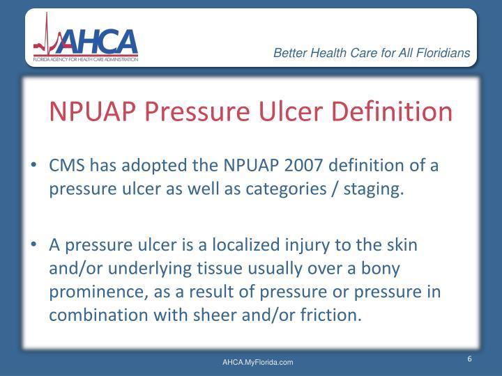 National Pressure Ulcer Advisory Panel NPUAP