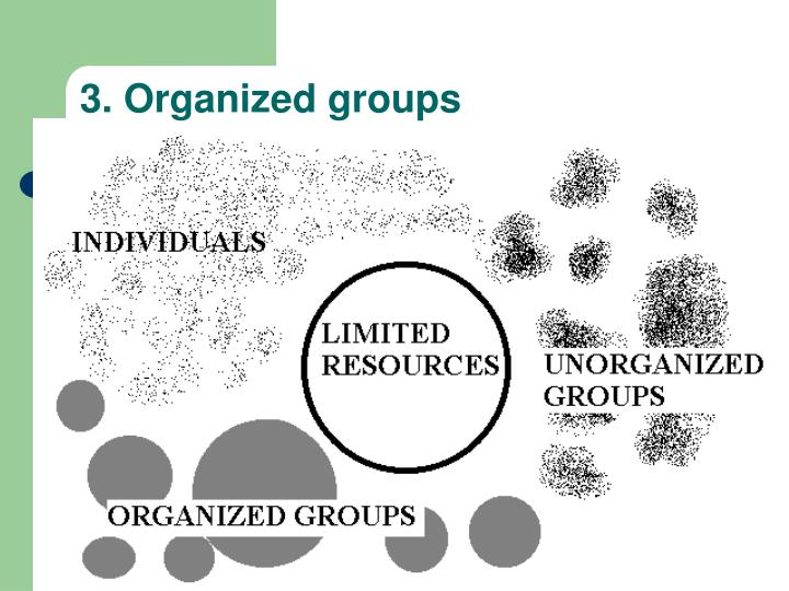 3. Organized groups