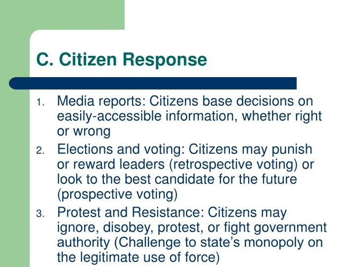 C. Citizen Response