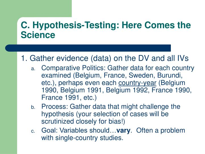 C. Hypothesis-Testing: Here Comes the Science