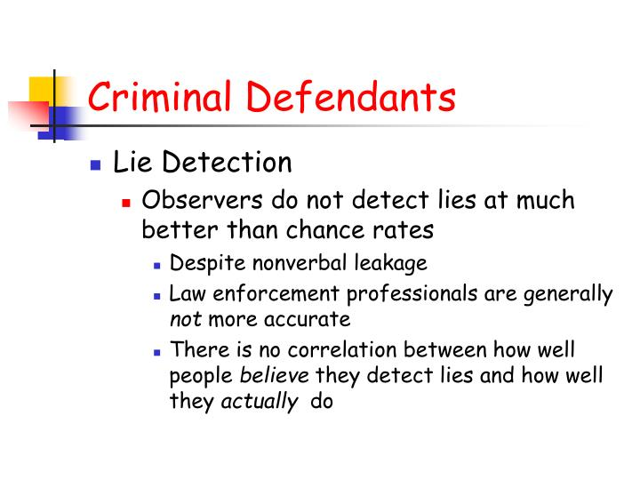 Criminal Defendants