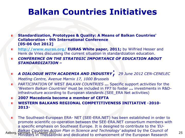 Balkan Countries Initiatives