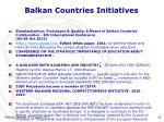 balkan countries initiatives