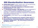 ees standardization awareness