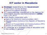 ict sector in macedonia