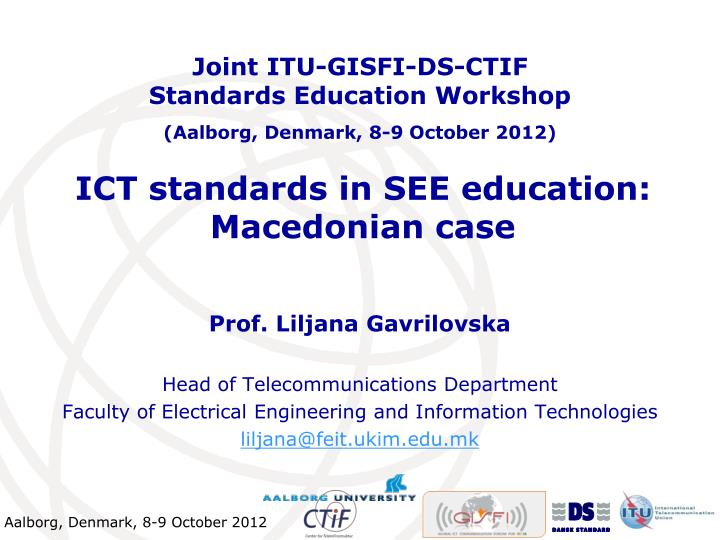 Ict standards in see education macedonian case
