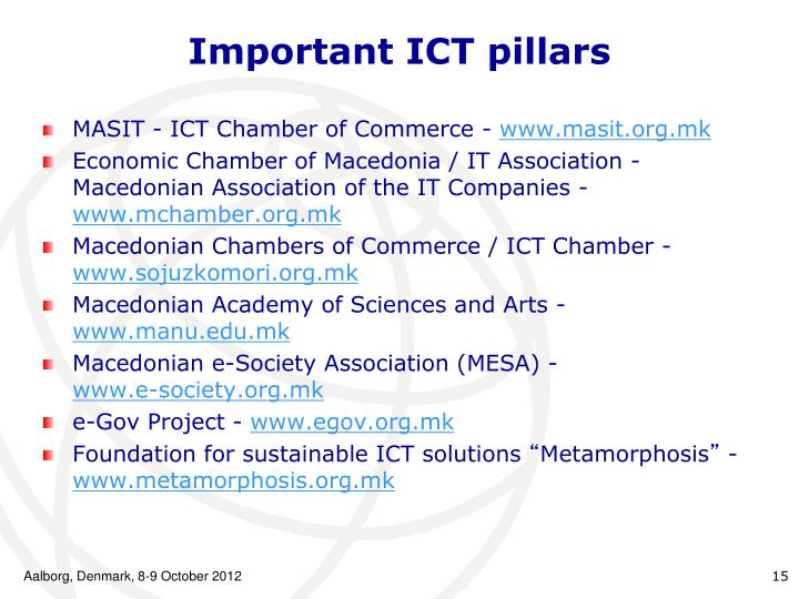 Important ICT pillars