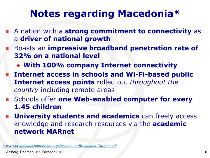 Notes regarding Macedonia*