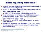 notes regarding macedonia