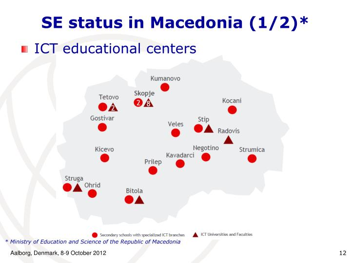 SE status in Macedonia (1/2)*