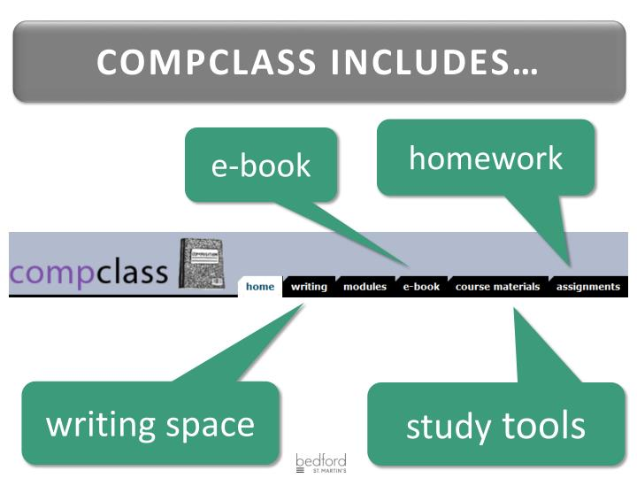 COMPCLASS INCLUDES…