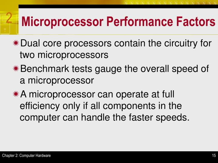 Microprocessor Performance Factors