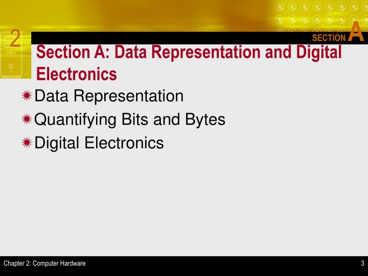 Section a data representation and digital electronics