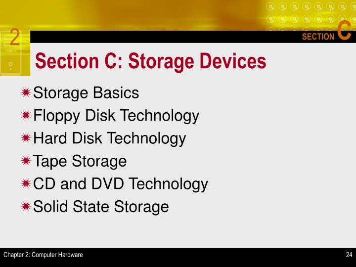 Section C: Storage Devices