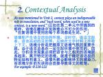 2 contextual analysis
