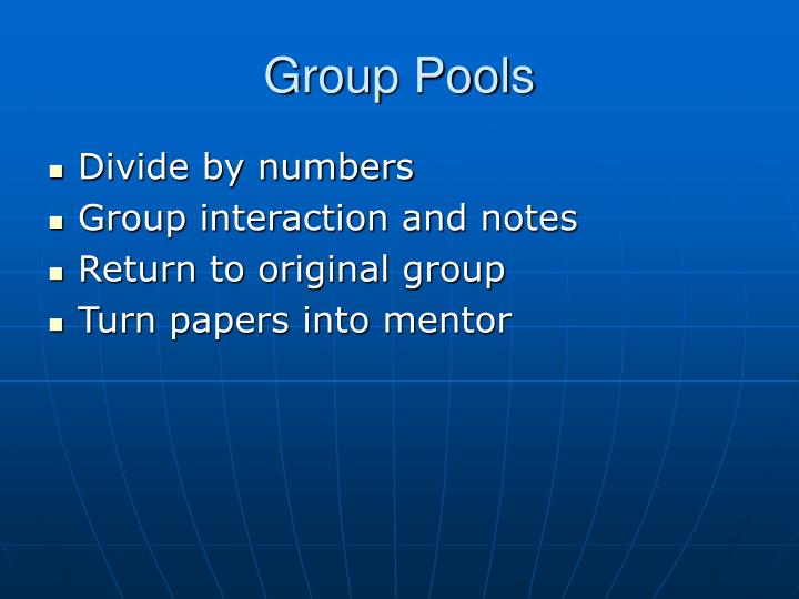 Group Pools
