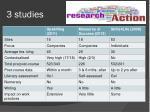 3 studies