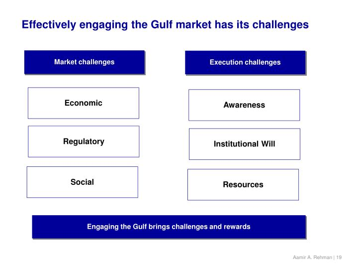 Effectively engaging the Gulf market has its challenges