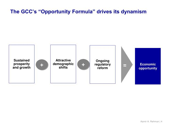 "The GCC's ""Opportunity Formula"" drives its dynamism"