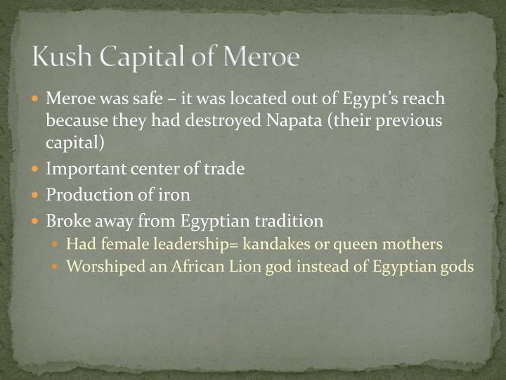 Kush Capital of Meroe
