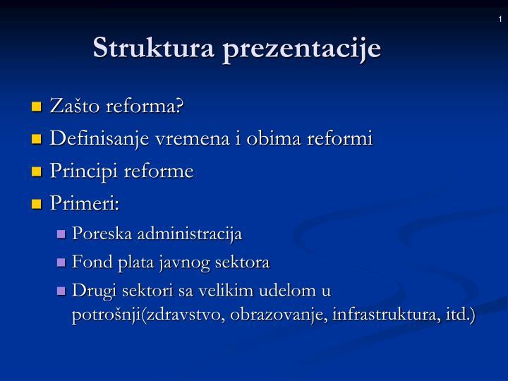 Struktura prezentacije