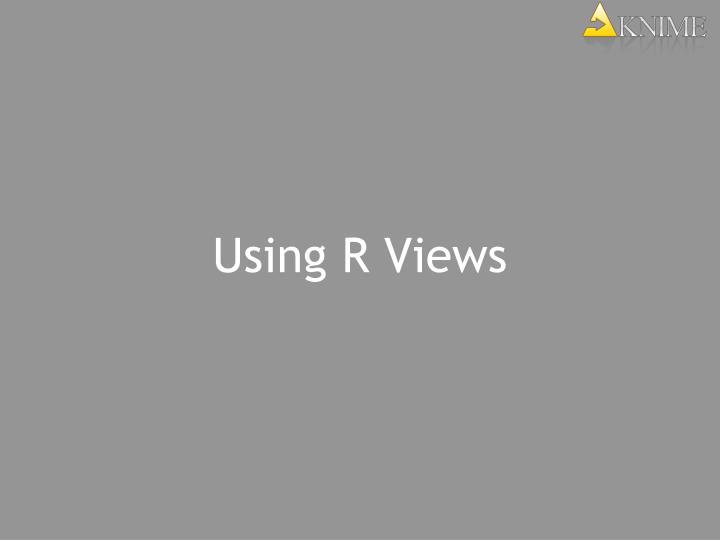 Using R Views