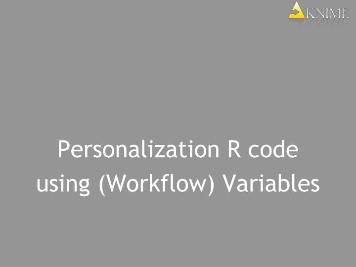 Personalization R code