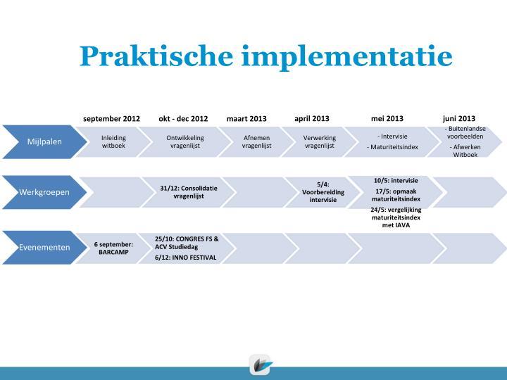 Praktische implementatie