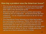 how big a problem was the american issue1