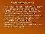 kyoto protocol aims