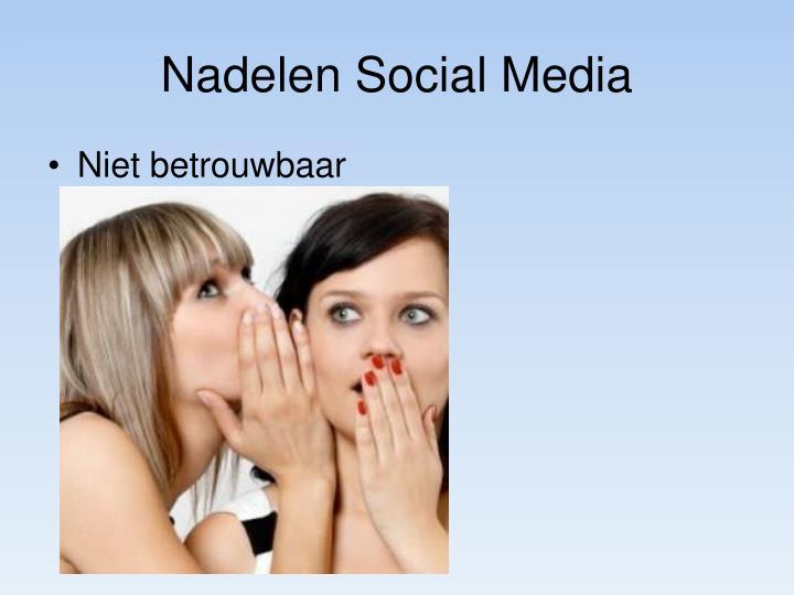Nadelen Social Media
