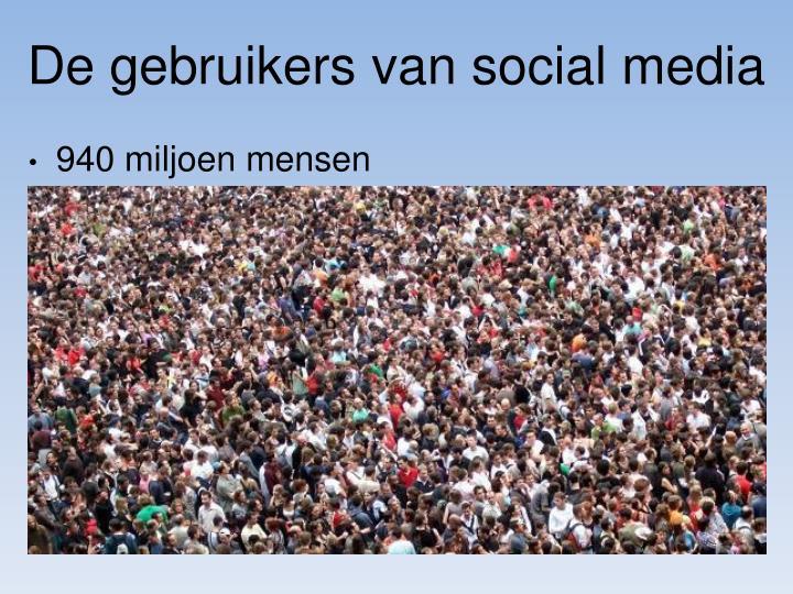 De gebruikers van social