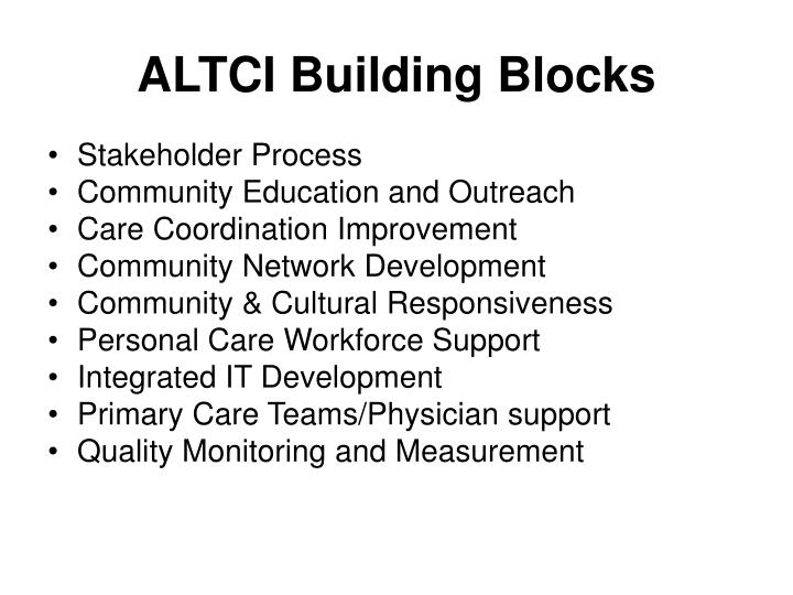 ALTCI Building Blocks