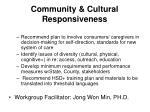 community cultural responsiveness