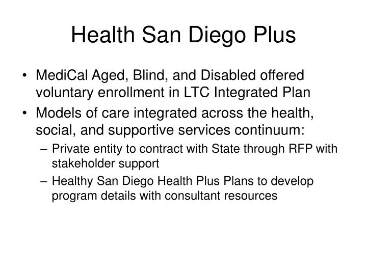 Health San Diego Plus