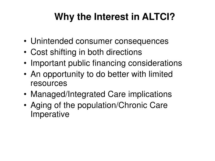 Why the Interest in ALTCI?