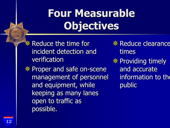 Reduce the time for incident detection and verification