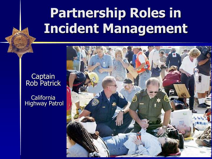 Partnership Roles in Incident Management